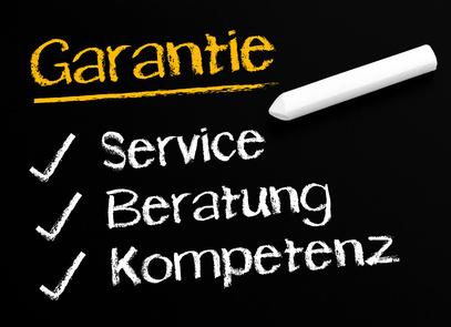 Garantie: Service - Beratung - Kompetenz